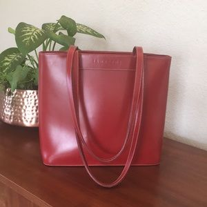 e3221fc375 ... Italian Red Leather Tote Shoulder Bag!